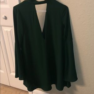 Essue Bell Sleeved Dress Size Small — Emerald